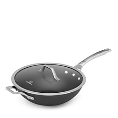 """Calphalon Signature Nonstick Cookware 12"""" Flat Bottom Wok with Cover - Bloomingdale's_0"""