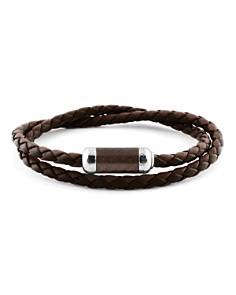 Tateossian - Woven Leather Bracelet