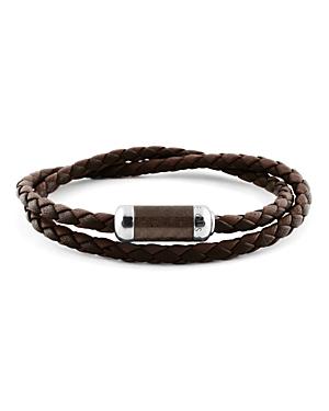 Tateossian Woven Leather Bracelet