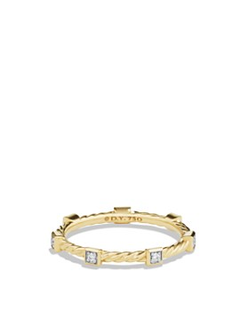 David Yurman - Cable Collectibles Ring with Diamonds in 18K Gold