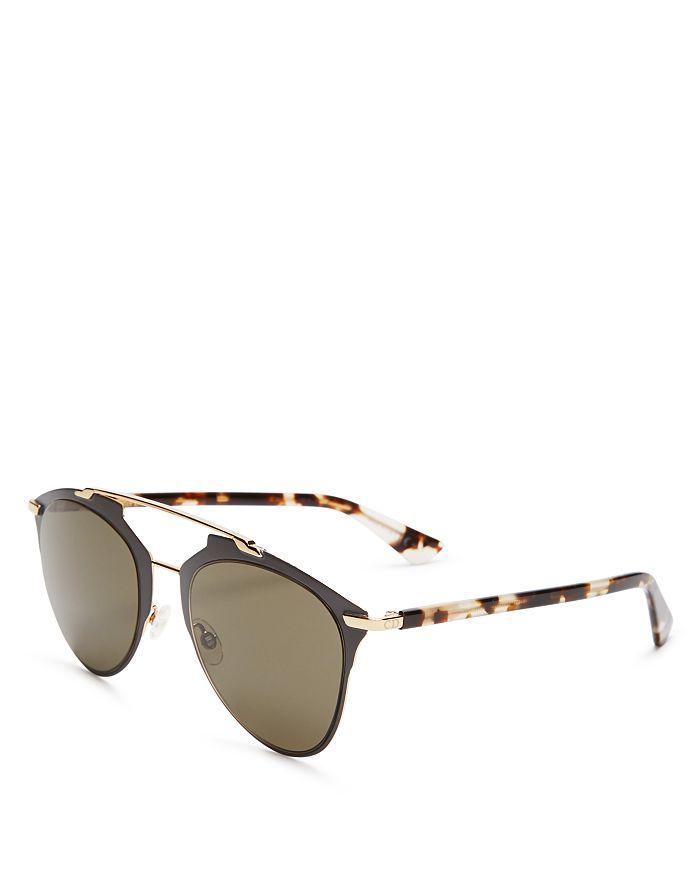 583c1ffa6554 Dior - Women s Reflected Mirrored Brow Bar Aviator Sunglasses