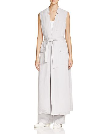 DKNY Long Belted Trench Vest   Bloomingdale\'s