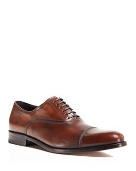 Salvatore Ferragamo - Men's Guru Brushed Leather Cap Toe Oxfords