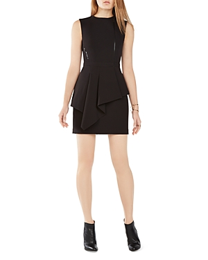 Bcbgmaxazria Asymmetric Peplum Dress