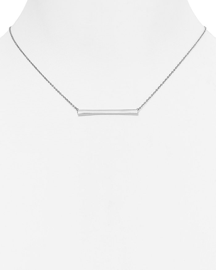 Argento Vivo - Straight Bar Pendant Necklace, 16""