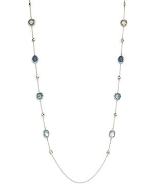 Ippolita Sterling Silver Rock Candy Semi-Precious Multi-Stone Doublet Station Necklace in Light Blue