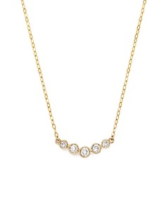 Bloomingdale's - Diamond 5 Stone Graduated Pendant Necklace in 14K Yellow Gold, .25 ct. t.w. - 100% Exclusive