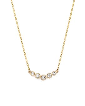 Bloomingdale's - Diamond 5 Stone Graduated Pendant Necklace in 14K Yellow Gold, .25 ct. t.w.- 100% Exclusive