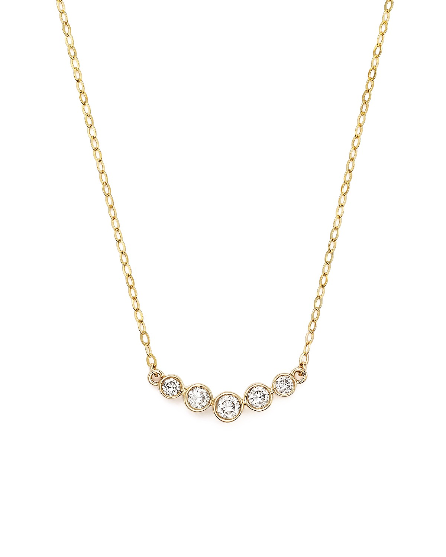 Diamond 5 stone graduated pendant necklace in 14k yellow gold 25 diamond 5 stone graduated pendant necklace in 14k yellow gold 25 ct tw bloomingdales aloadofball Images