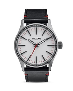 Nixon Sentry 38 Leather Strap Watch, 38mm - Bloomingdale's_0