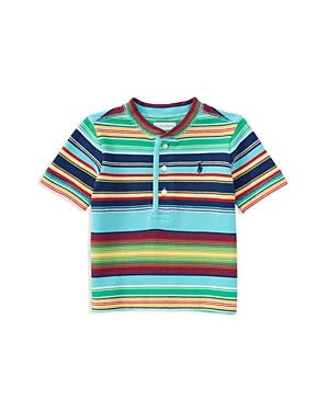 Ralph Lauren Childrenswear Boys Striped Henley Top  Sizes 27