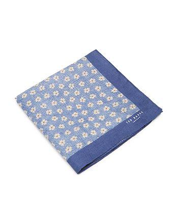 53ed8db8f8089 Ted Baker MINFLOR Floral Print Linen Pocket Square | Bloomingdale's