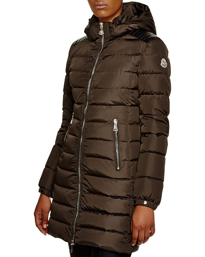 7dac6134d Orophin Leather Shoulder-Inset Down Coat