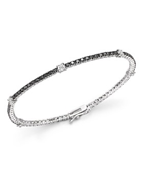 Bloomingdale's - Black and White Diamond Tennis Bracelet in 14K White Gold - 100% Exclusive