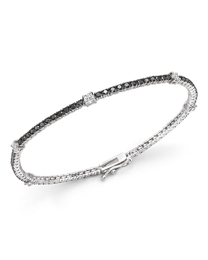 Black And White Diamond Tennis Bracelet In 14k Gold 100 Exclusive