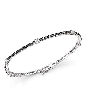 Black and White Diamond Tennis Bracelet in 14K White Gold - 100% Exclusive-Jewelry & Accessories