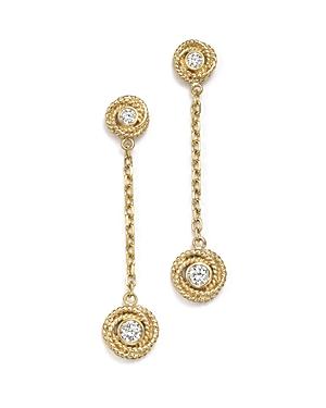 Diamond Love Knot Drop Earrings in 14K Yellow Gold, 0.35 ct. t.w. - 100% Exclusive