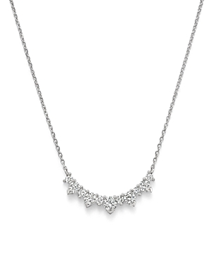 Diamond Graduated Pendant Necklace in 14K White Gold, .70 ct. t.w. - 100% Exclusive