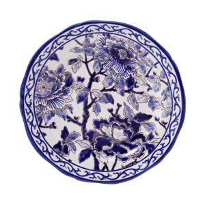 Gien France Piviones Bleu Luncheon Plate