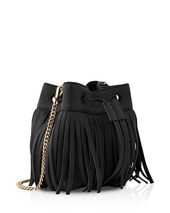 Whistles - Micro Sidney Fringe Bucket Bag