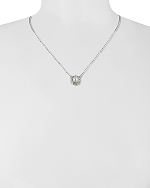 Majorica Halo Simulated Pearl Necklace, 16