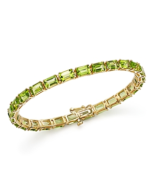 Peridot Tennis Bracelet in 14K Yellow Gold - 100% Exclusive