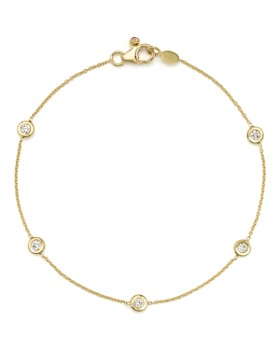 Roberto Coin - 18K Yellow Gold Five Station Bracelet with Diamonds