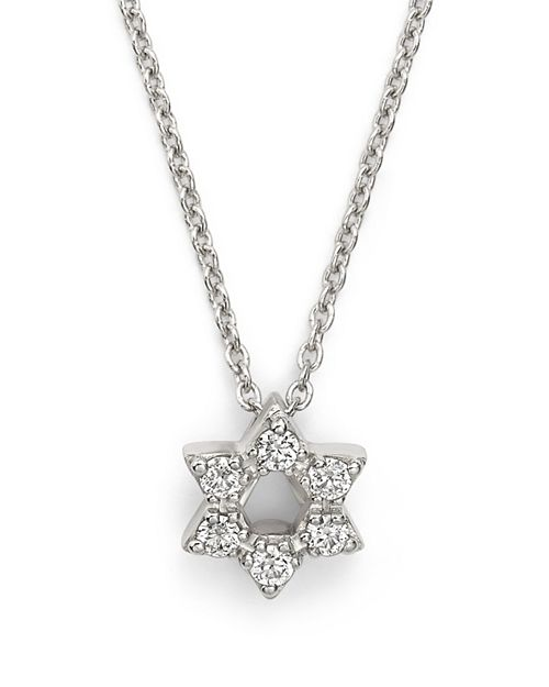 Roberto coin 18k white gold star of david pendant necklace with roberto coin 18k white gold star of david pendant necklace with diamonds 16 aloadofball Image collections