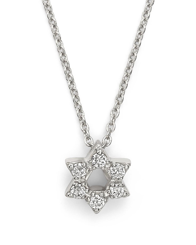 Roberto coin 18k white gold star of david pendant necklace with pdpimgshortdescription pdpimgshortdescription pdpimgshortdescription aloadofball Images