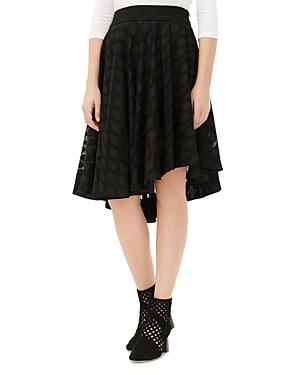 Sandro Joeline Asymmetric Lace Skirt