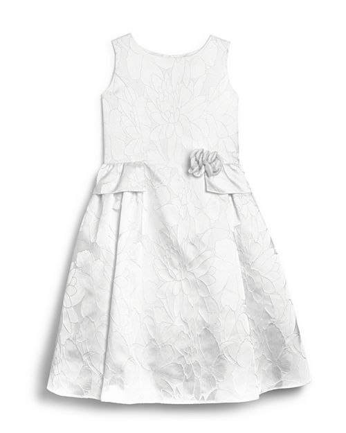 US Angels - Girls' Brocade Flower Girl Dress - Little Kid