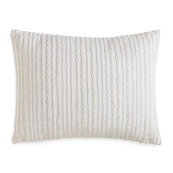"""DKNY - City Pleat Embroidered Decorative Pillow, 12"""" x 16"""""""
