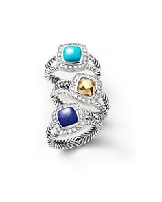 David Yurman Petite Albion Rings with Gemstones and Diamonds - Bloomingdale's_0