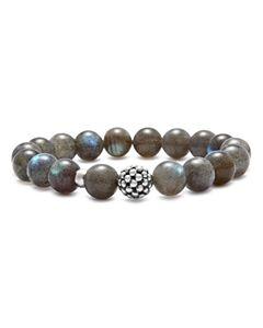LAGOS Caviar Ball Beaded Golden Obsidian Bracelet, 10mm