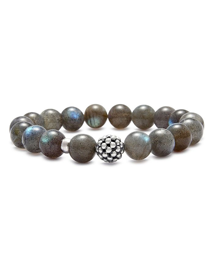 LAGOS - Sterling Silver Caviar Ball Beaded Labradorite Bracelet, 10mm