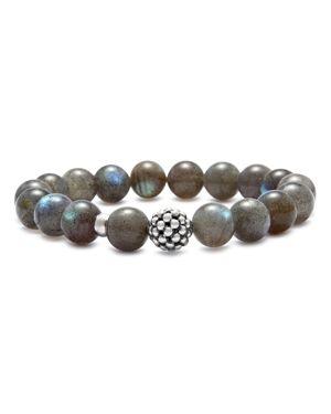 Lagos Sterling Silver Caviar Ball Beaded Labradorite Bracelet, 10mm