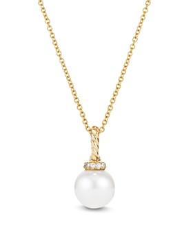 David Yurman - Solari Pearl Pendant Necklace with Diamonds in 18K Gold