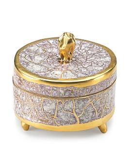 Michael Wainwright - Tempio Luna Gold Trinket Box Round