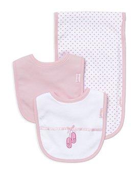 Little Me - Infant Girls' Ballet Slipper Bib & Burp Cloth Set - Baby