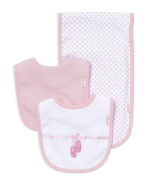 Little Me Infant Girls Ballet Slipper Bib  Burp Cloth Set