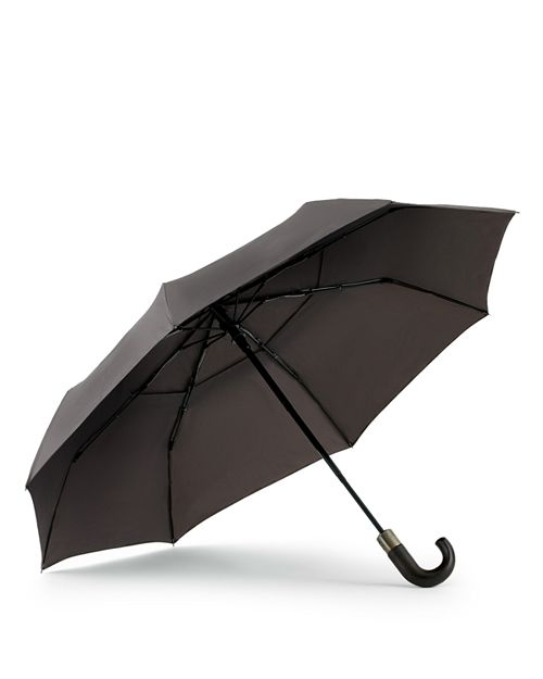 Shedrain - WindPro® Vented Auto Open/Auto Close Compact Umbrella with Curved Wood Handle