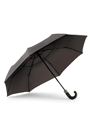 ShedRain WindPro Vented Auto Open/Auto Close Compact Umbrella with Curved Wood Handle