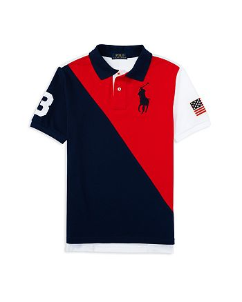 Lauren Ralph Big 7 2 Boys' Blocked Sizes Pony Color Polo Shirt qzMpGUSV