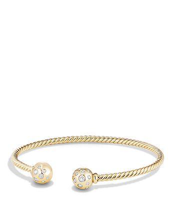 David Yurman - Solari Bead Bracelet with Diamonds in 18K Gold