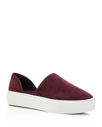 Rebecca Minkoff - Women's  Nana Suede d'Orsay Slip-On Platform Sneakers