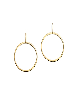 14K Yellow Gold Large Oval Drop Earrings - 100% Exclusive