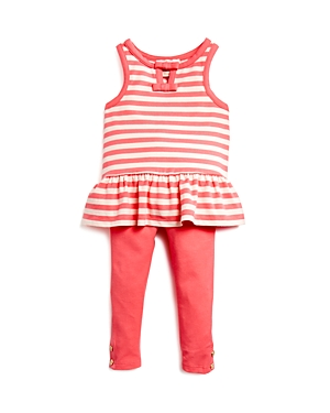 kate spade new york Infant Girls' Striped Cutout Tunic & Solid Leggings Set - Sizes 6-24 Months