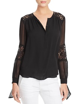 Rebecca Taylor - Sarah Lace Paneled Silk Blouse
