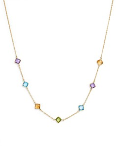 """Bloomingdale's - Multi Gemstone Station Necklace in 14K Yellow Gold, 18""""- 100% Exclusive"""