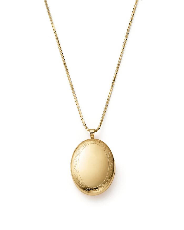 """Bloomingdale's 14K Yellow Gold Oval Swirl Locket Necklace, 22"""" - 100% Exclusive    Bloomingdale's"""